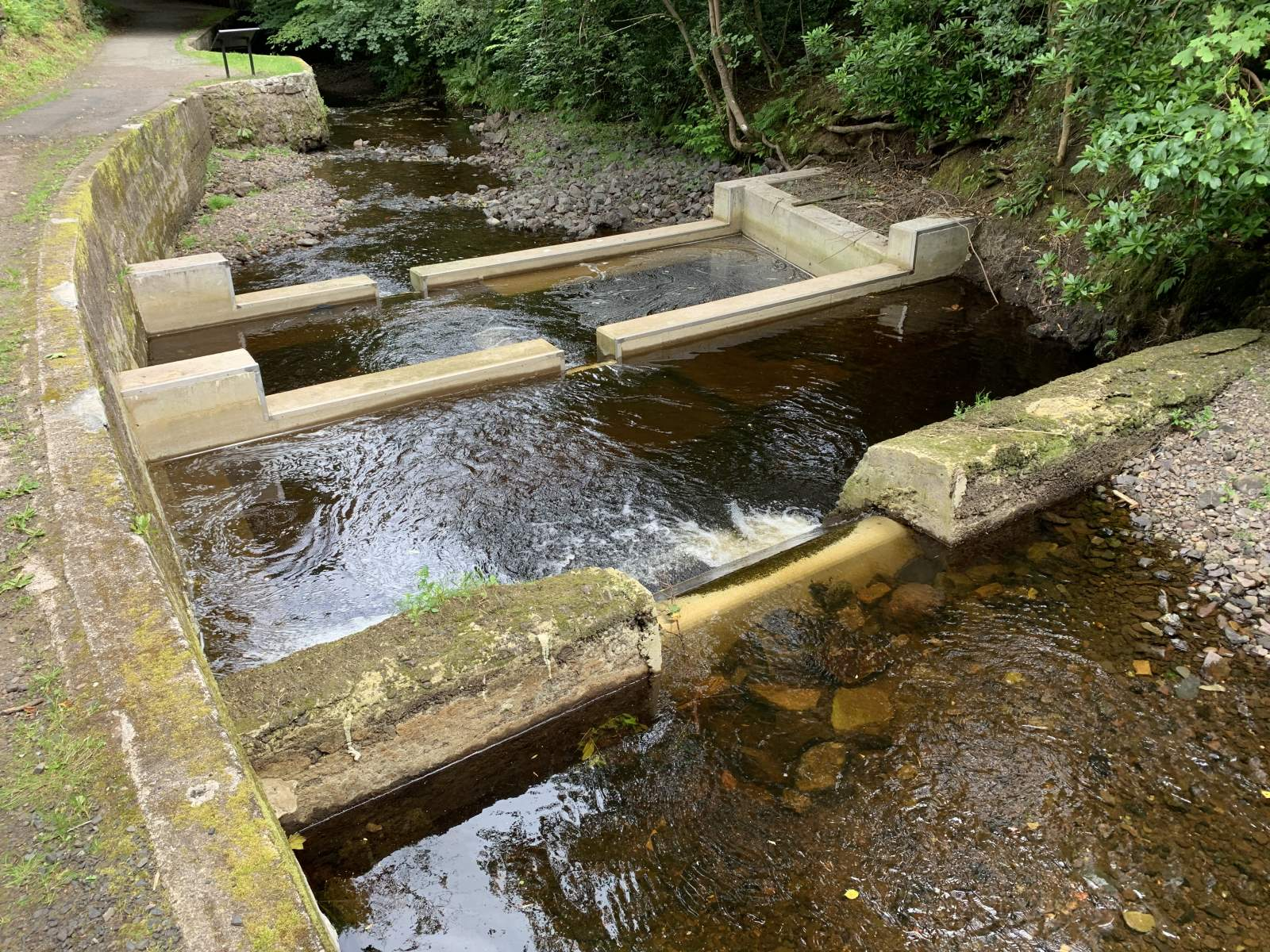 The water weir project at Gotter, Scotland